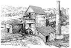 Drawing of the Engine House and Chimney, 1866