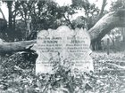 Historic photo of the Jenkin headstone in the original Cadia Cemetery