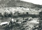 View of cadia looking south west from the copper smelter towards the newly established village, circa 1900