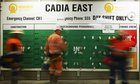 Underground miners tagging onto the Cadia East tag board